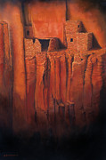Adobe Prints - Betatakin Ruins Print by Jerry McElroy
