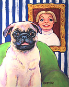Chinese Pug Posters - Beth Ann and Butch Poster by Rebecca Korpita