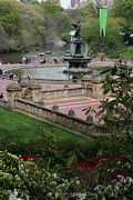 Christiane Schulze Prints - Bethesda Fountain - Central Park NYC Print by Christiane Schulze