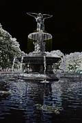 Christiane Schulze Digital Art Posters - Bethesda Fountain Abstract Poster by Christiane Schulze