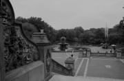 Bethesda Fountain Prints - Bethesda Fountain Steps Print by Christopher Kirby