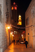 Bethlehem Prints - Bethlehem at Night Print by Munir Alawi