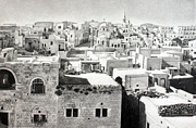Bethlehem Drawings Prints - Bethlehem Old Town Print by Munir Alawi