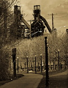 Bethlehem Steel Mill Print by Luis Lugo