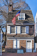 Phila Framed Prints - Betsy Ross House Framed Print by John Greim