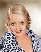 Leopard Print Framed Prints - Bette Davis, Ca. 1932 Framed Print by Everett
