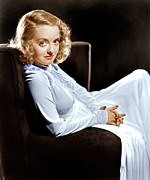 Sitting In Chair Posters - Bette Davis, Ca. Late 1930s Poster by Everett