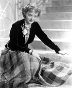 Plaid Skirt Prints - Bette Davis Print by Everett