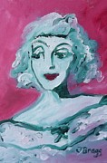 Evergreen Mixed Media Framed Prints - Bette Davis Framed Print by Janel Bragg