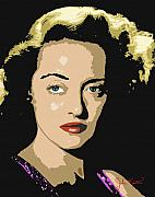 Stars Digital Art - Bette Davis by John Keaton