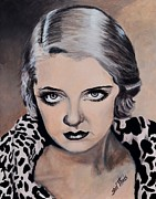 Golden Leopard Framed Prints - Bette Davis Framed Print by Shirl Theis