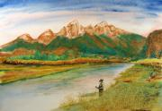 Wyoming Paintings - Better Than Work by Scott Manning