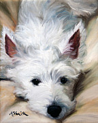Westie Art - Better to Hear You With by Mary Sparrow Smith