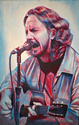Pearl Jam Painting Framed Prints - Betterman Eddie Vedder Framed Print by Derek Donnelly