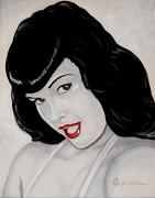 Pin Up Girl Paintings - Bettie by Al  Molina