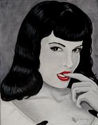 Pin-up Paintings - Bettie II by Al  Molina