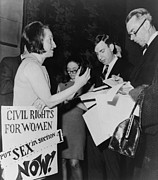 Activists Photo Posters - Betty Friedan, President Poster by Everett