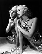 Gold Lame Photo Prints - Betty Grable, 1930s Print by Everett