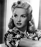 Print Blouse Prints - Betty Grable, 20th Century-fox, 1940s Print by Everett