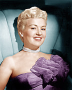 Purple Dress Posters - Betty Grable, Ca. 1950s Poster by Everett