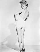 Looking Over Shoulder Posters - Betty Grable, World War Ii Pin-up Poster by Everett