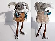 Linda Apple Mixed Media - BETTY of the Weird Family by Linda Apple