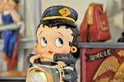 Betty Boop Posters - Betty The Biker Chick Poster by Jan Amiss Photography