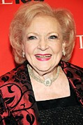 Betty Photo Framed Prints - Betty White At Arrivals For Time 100 Framed Print by Everett