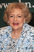 Betty Photo Framed Prints - Betty White At In-store Appearance Framed Print by Everett