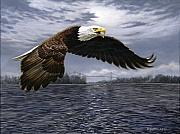 American Eagle Painting Metal Prints - Between Nations Metal Print by Richard De Wolfe