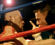 Boxer Digital Art Posters - Between Rounds Poster by David Lee Thompson