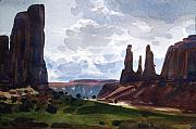 Three Sisters Prints - Between the Buttes Print by Donald Maier