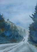 Lincoln Paintings - Between the Showers on HWY 101 by Jenny Armitage