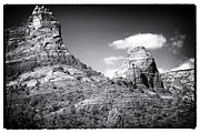 Red Rocks Framed Prints - Between Two Rocks Framed Print by John Rizzuto