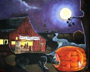 Hayride Prints - Betwitched At The Barndance Print by Michelle Nardi