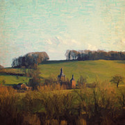 Limburg Paintings - Beusdael Castle by Nop Briex