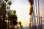 Beverly Hills Framed Prints - Beverly Hills in LA Framed Print by Susanne Van Hulst