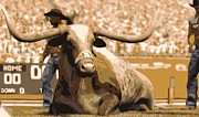 Texas Longhorns Digital Art Posters - Bevo Color 16 Poster by Scott Kelley