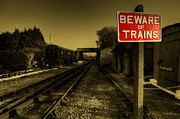 Beware Posters - Beware of Trains Poster by Rob Hawkins