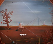 Pop Surrealism Paintings - Beware of Wilbur by Dave Gold