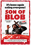 Scared Framed Prints - Beware The Blob, Aka Son Of Blob Framed Print by Everett