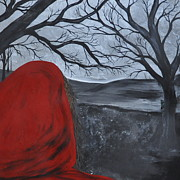 Red Riding Hood Paintings - Beware by Tree Girly