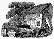 Bewick Prints - Bewick: Rural House Print by Granger
