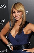 Plunging Neckline Prints - Beyonce At Arrivals For Beyonce Print by Everett