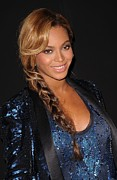 Side Braid Framed Prints - Beyonce At Arrivals For Beyonce Pulse Framed Print by Everett