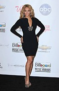 Black Dress Metal Prints - Beyonce Wearing A Lanvin Dress Metal Print by Everett