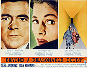 1956 Movies Prints - Beyond A Reasonable Doubt, Dana Print by Everett