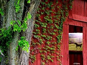 Barns Digital Art Metal Prints - Beyond Metal Print by Bill Stephens