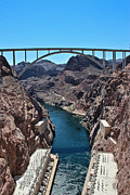 Colorado River Photos - Beyond The Hoover Dam Spillway by Heidi Smith