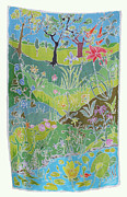 Environment Tapestries - Textiles Posters - Beyond The Pond Poster by Rollin Kocsis